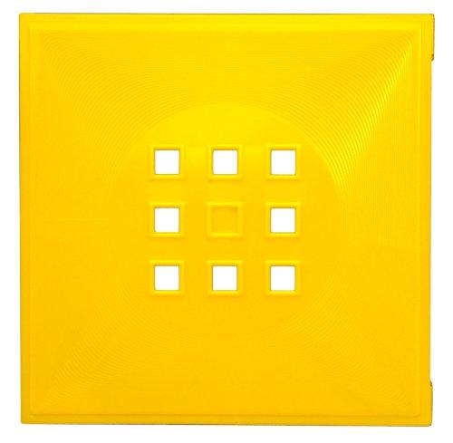 Designer Regaltür alternativ Einsatz mit Tür ca. 33,6cm x 33,6cm für IkeaRegal Expedit, Kallax, Nornäs * Sonnen-Gelb - Sonne Cube