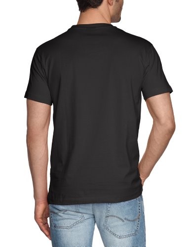 Signum Herren T-Shirt Basic 1/2 r-neck 999902911 Schwarz (Black 999)