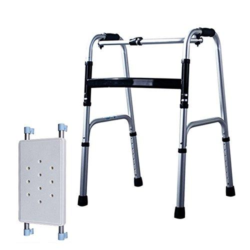XIHAA Ältere Menschen Walker Höhenverstellbar Klapp Aluminiumlegierung Pulle Behinderte Person Walking Rehabilitation Ausrüstung Bad Bad Stuhl (Ohne Rad) (4-rad Medical-rollator Drive)