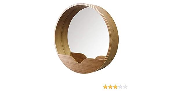 Zuiver Leaning Spiegel : Amazon zuiver mirror round wall vinyl braun