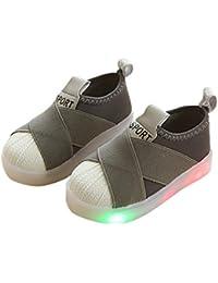 Zapatos de niños, Calzados/Zapatillas/Sandalias de niños Zapatos Deportivos para niños Suela de luz LED Boy Girls High Elastic Casual Shoes