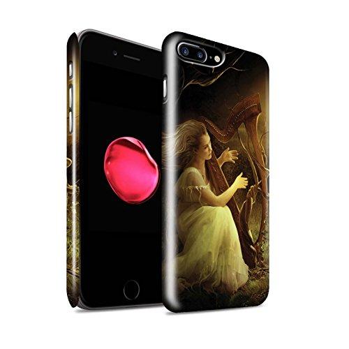 Offiziell Elena Dudina Hülle / Glanz Snap-On Case für Apple iPhone 8 Plus / Cello/Wolken Muster / Trost der Musik Kollektion Melodie der Stille
