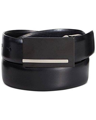 Alfani Men's Bonded Leather Reversible Dress Belt, Black /Black Perforated, 42/105 (Dress Alfani Mens)