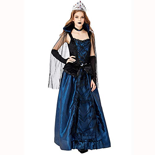 Hjg cosplay di uniforme di costume vintage della contessa, costume di halloween da travestimento di witch rolyplay costume da donna