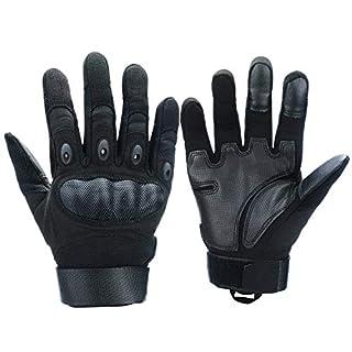 Xnuoyo Caoutchouc Hard Knuckle Doigt Complet et Demi Doigt Gants Gants de Protection Écran Tactile Gants pour Moto Vélo Chasse Escalade Camping (noir, XL)