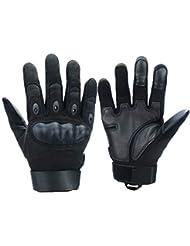 Xnuoyo Gomma dura Knuckle Full Finger e Mezza Finger Gloves Guanti di protezione Touch Screen Guanti per Moto Ciclismo Caccia Arrampicata Camping
