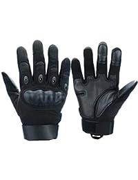 Xnuoyo Gomma dura Nocca Full Finger e Mezza Finger Gloves Guanti di protezione Touch Screen Guanti per Moto Ciclismo Caccia Arrampicata Camping