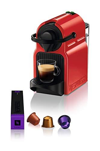 Máquina de cápsulas de caféKrups Nespresso Inissia, color rojo rubí Inissia Ruby Red