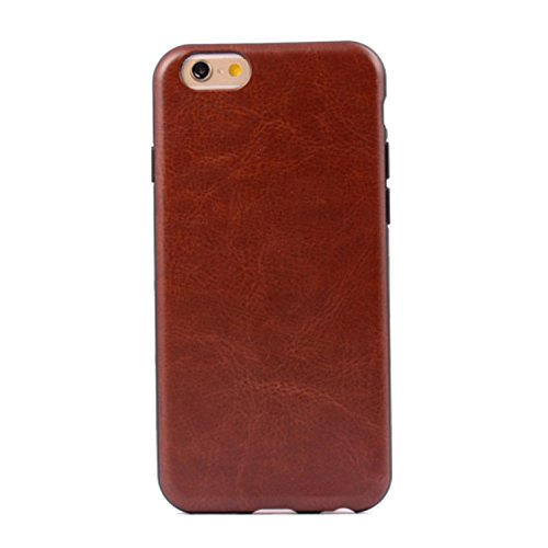 iPhone Case Cover bunte Muster Kunstleder Stil weichen Fall TPU + PC 2 in 1 Material Hautabdeckungsfall für iPhone 6 Plus / 6S plus ( PATTERN : Brown , Size : IPhone 6S Plus ) Brown