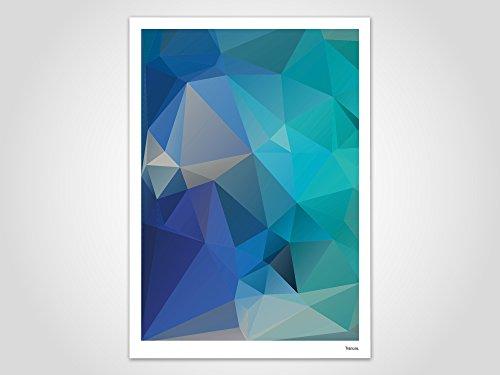 Aqua / Poster, Bild, Kunstdruck, Skandinavisch (Aqua Bilder)