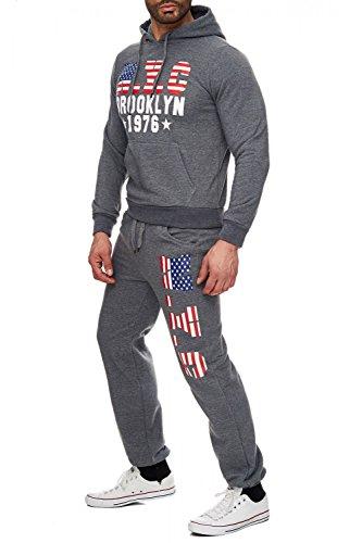 Soft Touch Uomo fare jogging Brooklyn H1724 Dunkelgrau
