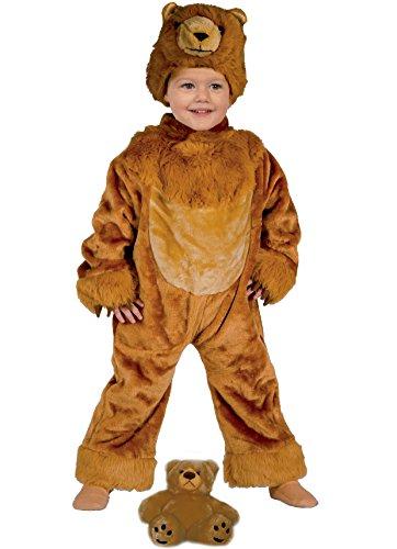 Drei Kostüm Bären - Ciao-Io e il io cucciolo - Baby-Kostüm aus Plüsch mit Stimme Bär (Braun) 3-4 anni Orsetto (Marrone)