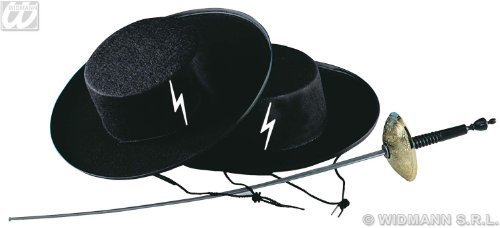 Banditenjäger Hut Gangster schwarz (Kostüme Gauner Die Schwarzen)