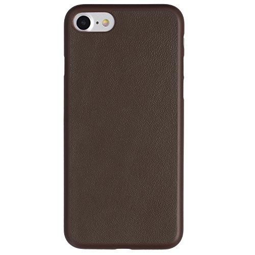 iPhone 7 Hülle, Dünnste Leder Hülle Ultradünn Leicht Schmal Minimal Anti-Kratz Schutz Case - Für Apple iPhone 7 | totallee (Braun) Braun