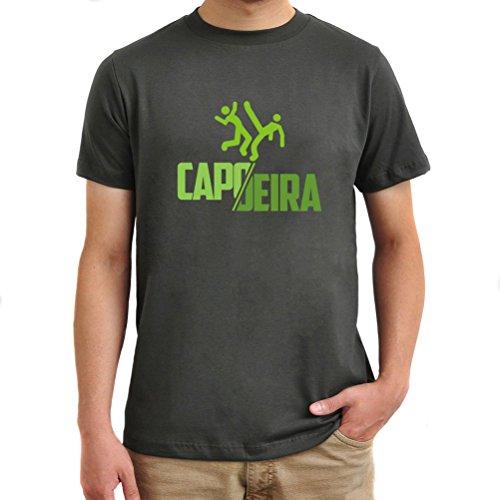 Maglietta Capoeira cool design Argento brunito
