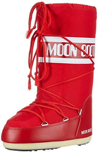 Moon Boot Nylon 14004400 - Bottes de Neige - Mixte Enfant Rosso (Rojo) 31-34 EU