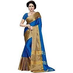 Vatsla Enterprise Women's Cotton Saree With Blouse Piece (VFFBW005)