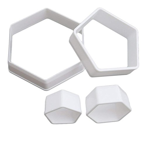 HENGSONG 4 Stück Kunststoff DIY Fußball Ausstecher Ausstechformen Keks Muffin Form Tortendeko Fondant Kuchen Dekoration Backen Zubehör