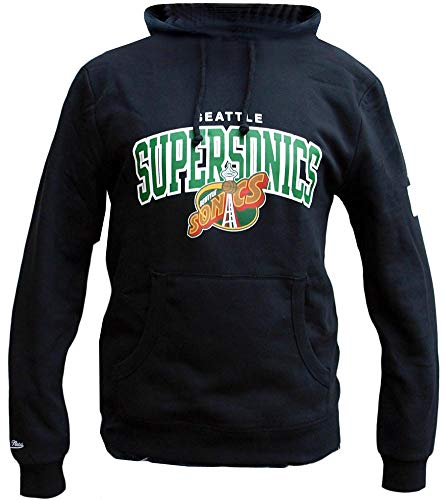 Mitchell & Ness Hoody Seattle Supersonics HWC Team Arch Logo Black L Arch Logo Cap
