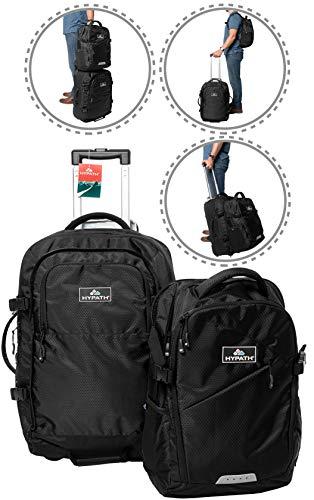 Hypath 2 in 1 umwandelbare Reisetasche - verwendbar als Rucksack, mobiles Handgepäck oder als gestapeltes Gepäck