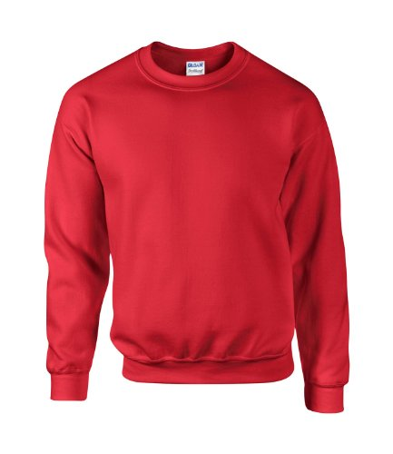 GILDAN - Sweat-shirt - Homme Rouge - Rouge