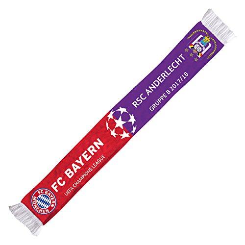 bufanda cl Grupo Fase Anderlecht 17/18FC Bayern Múnich + Gratis Pegatinas München Forever, bufanda/rassis/Viciado FCB