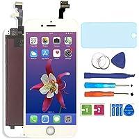 """AUODA Écran LCD Display Complet Tactile Remplacement &Protection d'écran Kit de Réparation pour iPhone 6(4.7"""") (Blanc)"""