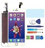 AUODA LCD Screen Display Touchscreen Bildschirm für iPhone 6 Digitizer Display schutzfolie (Weiß)