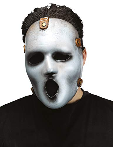 Kostüm Serienkiller Kinder - Generique - Serienkiller-Maske Screamy Joe Halloween-Accessoire grau-schwarz