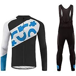 Future Sports UGLYFROG Invierno Thermal Ropa de Bicicleta Hombre MTB Traje de Ciclismo Mangas Largas Maillots+Pantalones Equipación de Ciclista Bodies, Talla XS-6XL