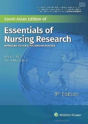 ESSENTIALS OF NURSING RESEARCH APPRAISING EVIDENCE FOR NURSING PRACTICE 9ED (PB 2018)