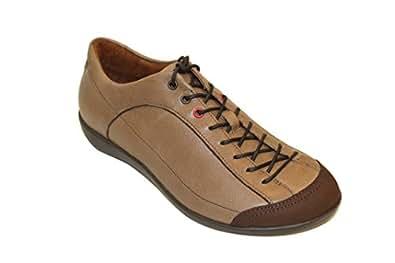 BENVADO , Chaussures de ville à lacets pour femme Marron Cuoio - Marron - Cuoio, 37.5 EU
