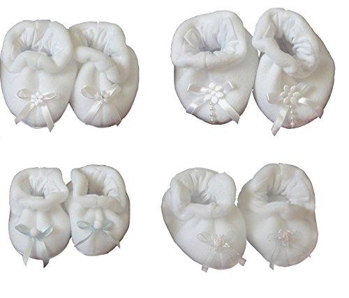 Babyschuhe Taufschuhe Krabbelschuhe neue weiße warme Schuhe Baby Taufe Weiß-Strass