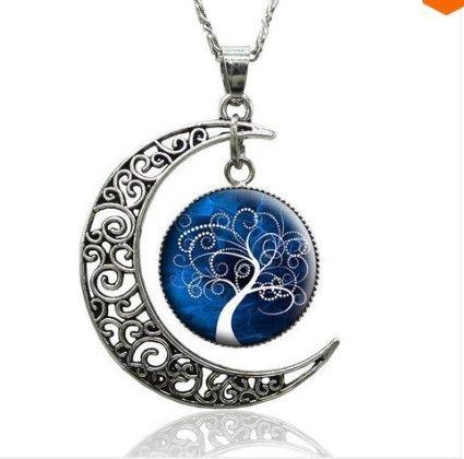 artigianale-fai-da-te-vetro-cabochon-collana-pendente-albero-della-vita-arte-immagine-argento-hollow