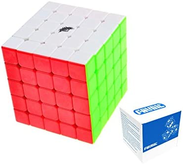 FAVNIC Cyclone Cyclone Cyclone Boys Speed Cube Stickerless Enhanced Version Smooth Magic Cube Puzzles(X-5X5X5) | Le Roi De La Quantité