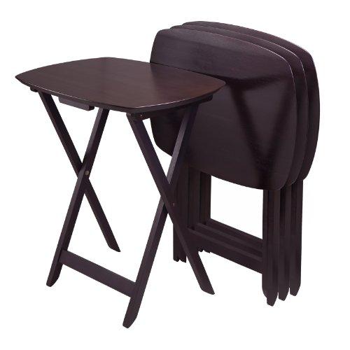 Winsome TV-Tisch, Holz, 4 Stück Casual Dark Espresso Finish
