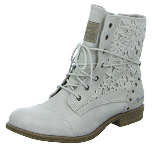 MUSTANG - Damen Schnür-Booty - Grau Schuhe in Übergrößen, Größe:43