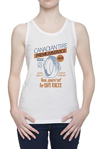 canadian-tire-premium-service-donna-bianco-canotta-t-shirt-tutte-le-taglie-womens-white-tank-t-shirt