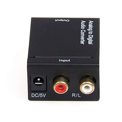 DJG Digital-Analog-Wandler, optischer Digital-Audio-Umschalter Keine Übertragung elektromagnetischer Störungen Kompatibel mit Xbox HDTV usw.
