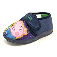 Kids/Childrens Peppa Pig/George Slippers Booties Boys Mules Size 5-10