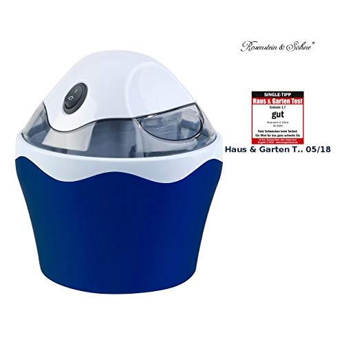 Rosenstein & Söhne Glacemaschine: Elektrischer Speiseeis-Bereiter, 7 Watt, 500-ml-Kühlbehälter (Eismacher)