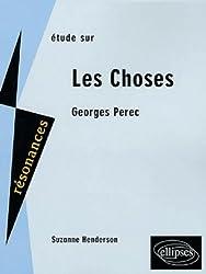 Etude sur Georges Perec : Les Choses