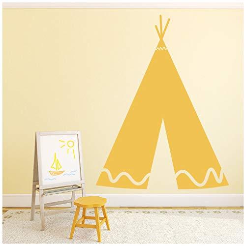 ee Wandtattoo Cowboy Wand Sticker Jungen Schlafzimmer Haus Dekor verfügbar in 5 Größen und 25 Farben X-Groß Weiß ()
