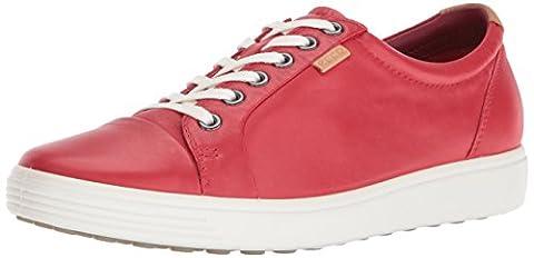 Ecco Damen Soft 7 Ladies Sneakers, Rot (1046TOMATO), 41 EU