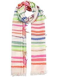 e4433a7151fa1e Passigatti Jaquard Multidesign Stripes Schal Baumwollschal Baumwolltuch  Damentuch Damenschal Mit Fransen