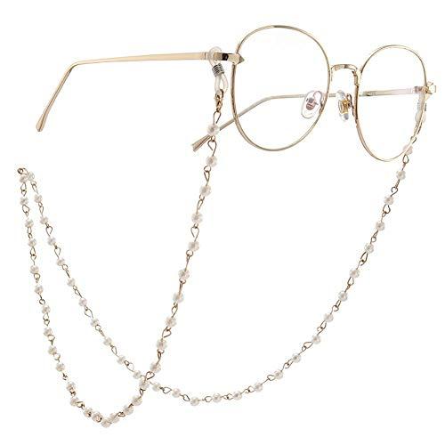Brillenketten Fashion Elegant Faux Pearl Perlen Sonnenbrillenhalter Damen Eyewear Lanyards-in Brillenzubehör von Apparel Accessories, White