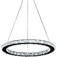 Lonfenner In acciaio inox salone moderno Lampadario cristallo lampadari led 3 camera da letto semplice Crystal soffitto lampada cristallo Lampadario Lampadario ristorante line (30cm) , Cool white Light