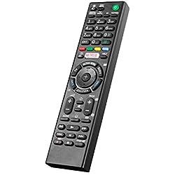 Nouveau Remplacement de Télécommande avec Le Bouton Netflix, pour Sony Bravia Smart LCD LED HD TV, RMT-TX100D RMT-TX200E RMT-TX200E RMT-TX300E - TV Télécommande Universelle sans Réglage