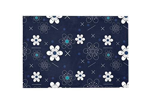 Preisvergleich Produktbild Wamnu Flowers Pattern Large Area RugsDirty Children's Carpets for Living Roooms, Bedrooms, Children's Doormats