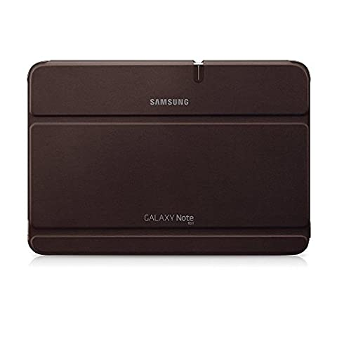Samsung Original Diarytasche (Flipcover) im Buchdesign EFC-1G2NAECSTD (kompatibel mit Galaxy Note 10.1) in amber